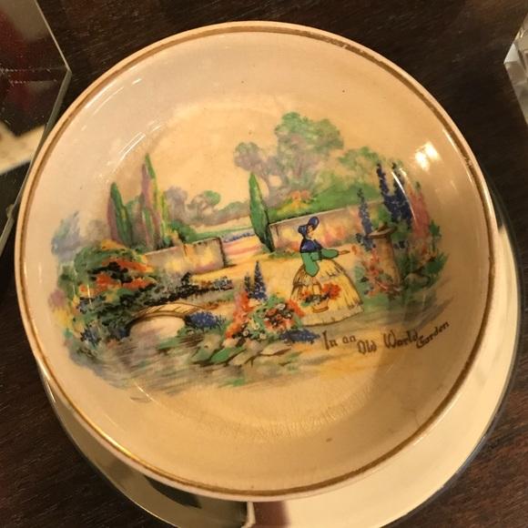 Vintage Other - Handmand England In an Old World Garden Dish